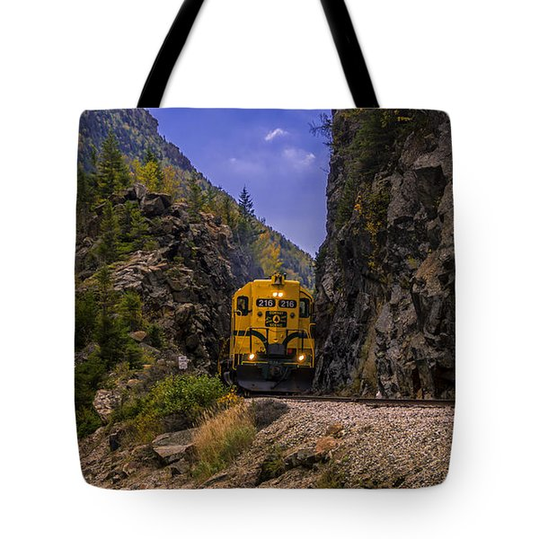 Conway Scenic Railroad Notch Train. Tote Bag