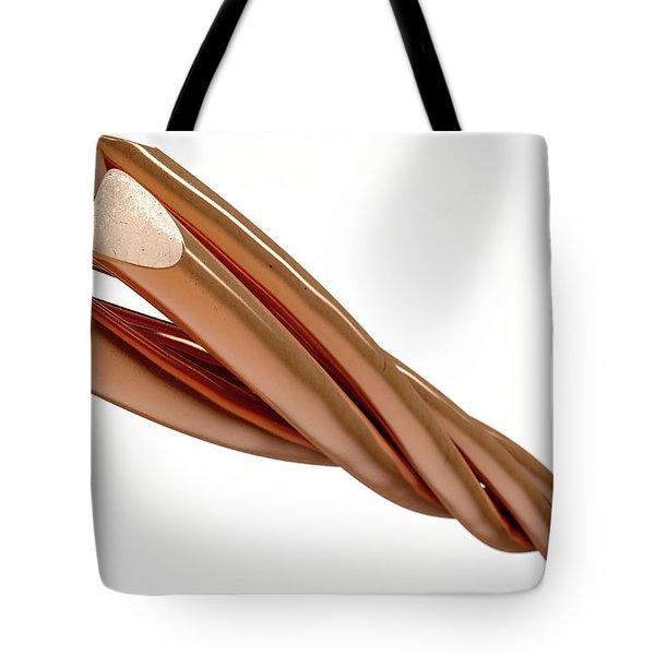 Copper Wire Strands Tote Bag