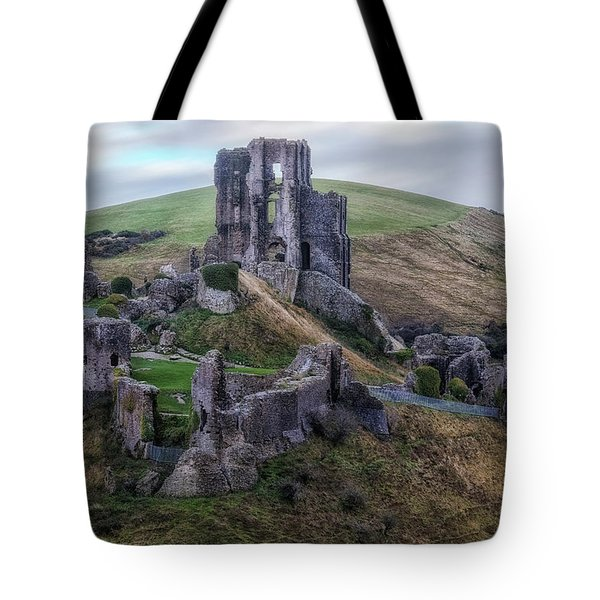 Corfe Castle - England Tote Bag