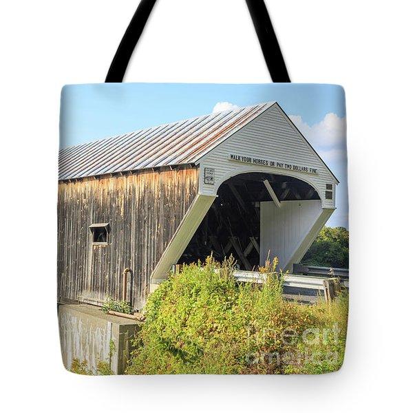 Cornish-windsor Covered Bridge Tote Bag by Edward Fielding