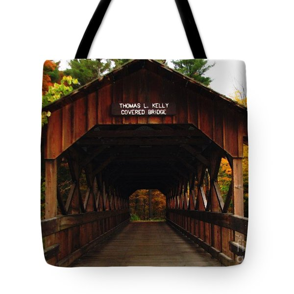 Covered Bridge At Allegany State Park Tote Bag