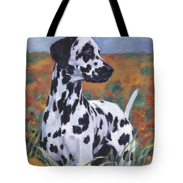 Tote Bag featuring the painting Dalmatian by Lee Ann Shepard