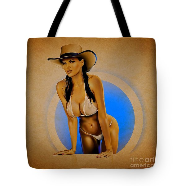 Tote Bag featuring the digital art Dana by Brian Gibbs