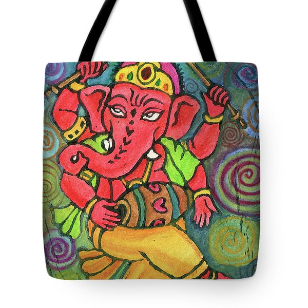 Dancing Ganesha Tote Bag