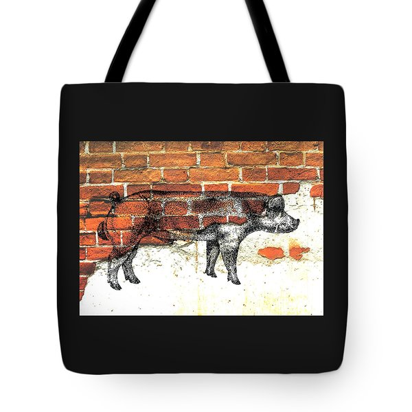 Tote Bag featuring the photograph Danish Duroc Boar by Larry Campbell