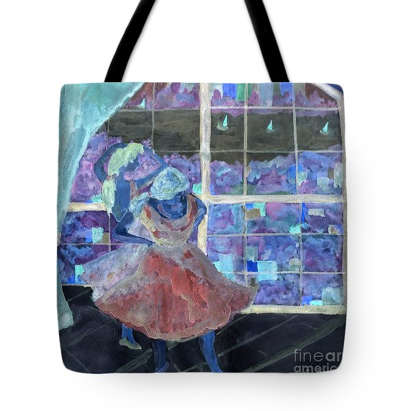 Tote Bag featuring the digital art Dansarinas by Reina Resto