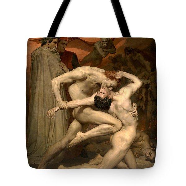 Dante And Virgil In Hell  Tote Bag