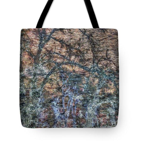 Tote Bag featuring the mixed media Dark by Yury Bashkin