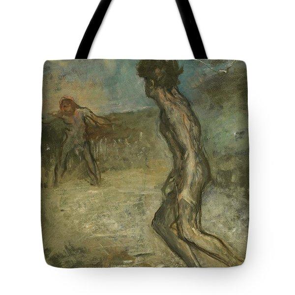 David And Goliath Tote Bag