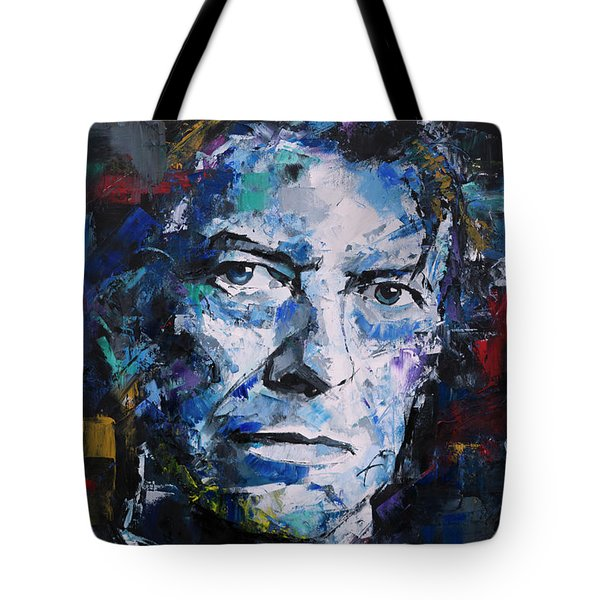 Tote Bag featuring the painting David Bowie by Richard Day