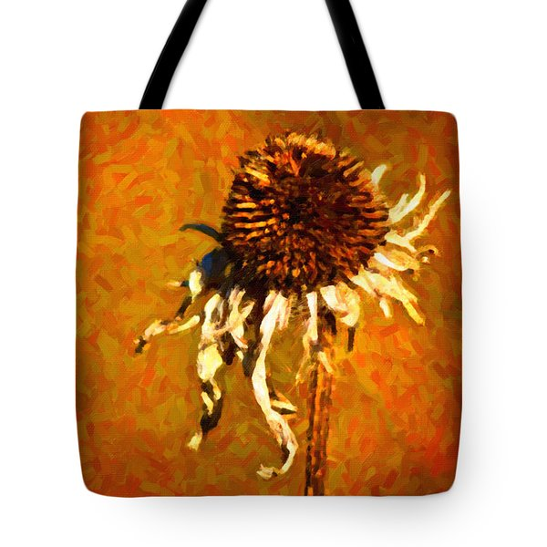 Dead Flower Tote Bag by Andre Faubert
