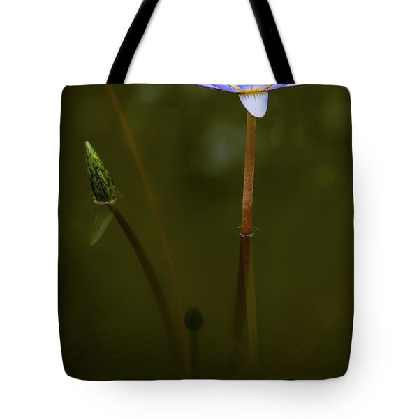 Tote Bag featuring the photograph Deep Lily Reflection by Dennis Dame