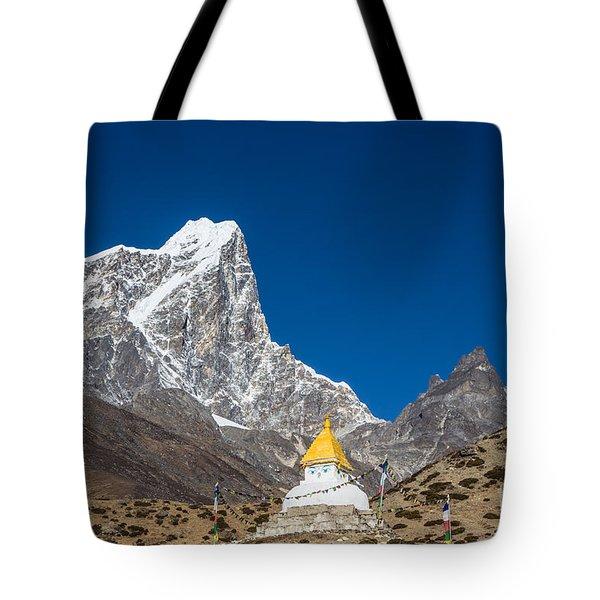 Dingboche Stupa In Nepal Tote Bag