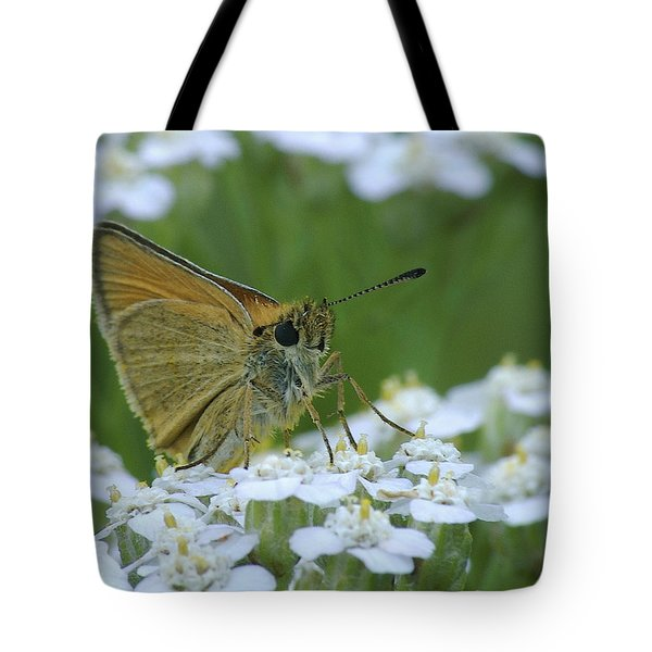 Dion Skipper Yarrow Blossoms Tote Bag by Michael Peychich