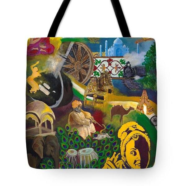 Discover India Tote Bag by Alika Kumar