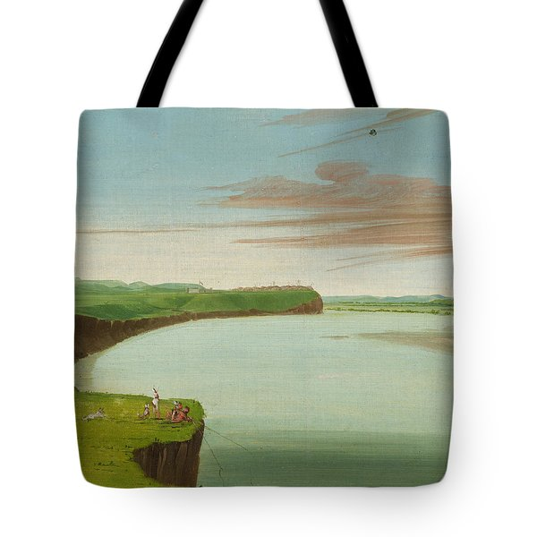 Distant View Of The Mandan Village Tote Bag