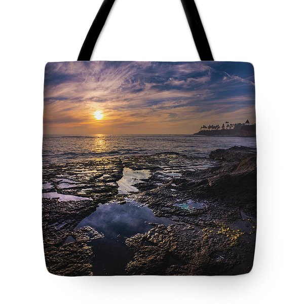 Diver's Cove Sunset Tote Bag