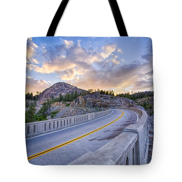 Donner Memorial Bridge Tote Bag