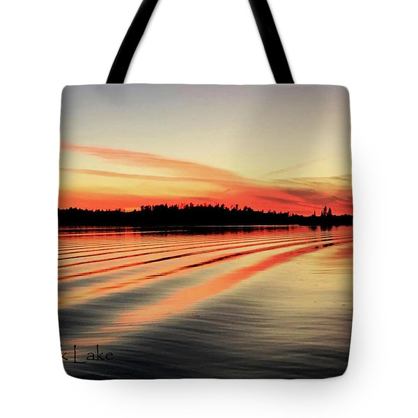 Doug Hobson, Red Rock Lake Tote Bag by Tom Janca