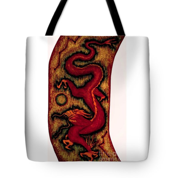 Tote Bag featuring the painting Dragon by Fei A