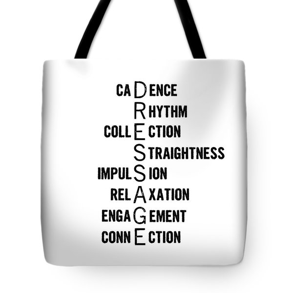Dressage Pyramid Definition Tote Bag