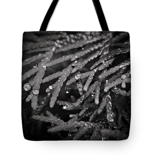 Tote Bag featuring the photograph Droplets by Cendrine Marrouat