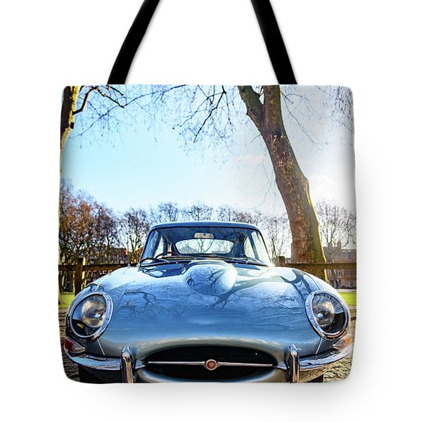 E Type Jaguar Tote Bag