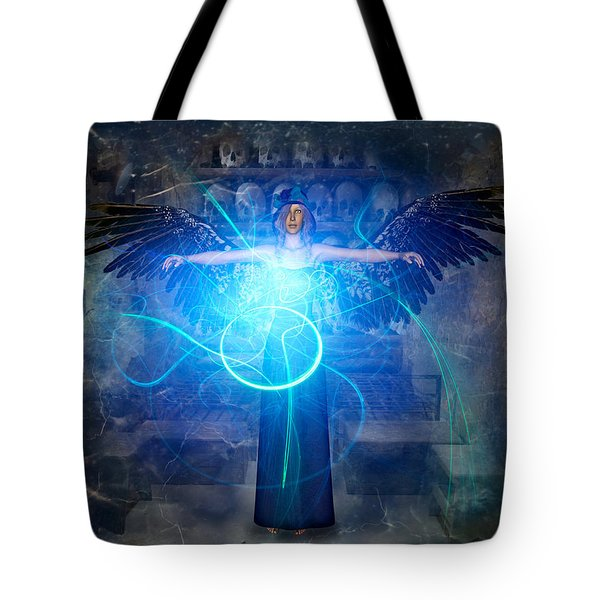 Tote Bag featuring the digital art Earth's Guardians by Riana Van Staden