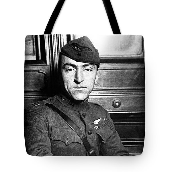 Tote Bag featuring the photograph Eddie Rickenbacker by War Is Hell Store