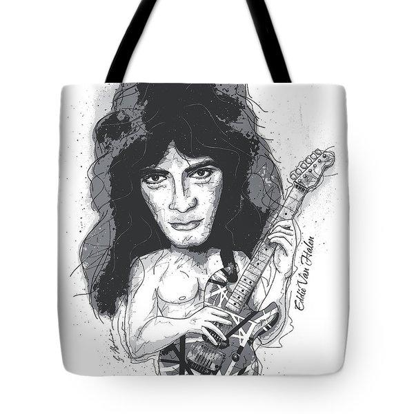 Eddie Van Halen Tote Bag by Gary Bodnar