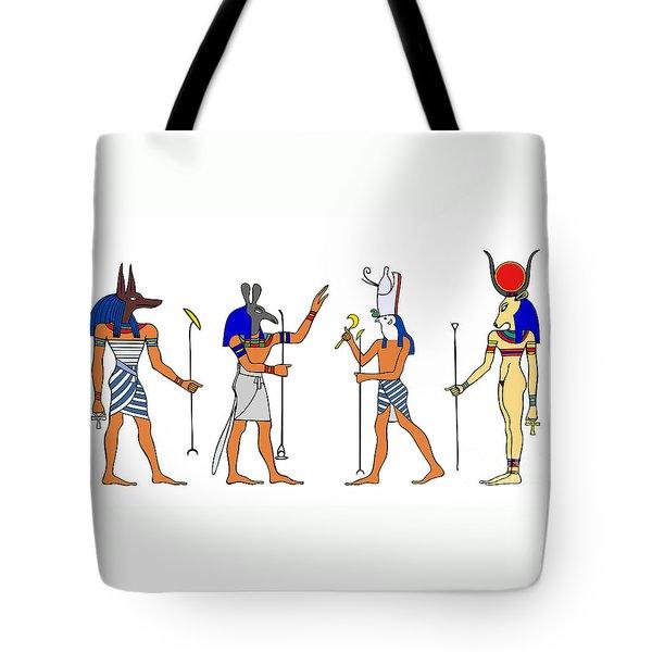 Egyptian Gods And Goddess Tote Bag