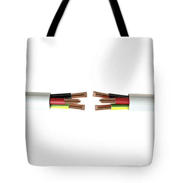 Electrical Cable Cut Tote Bag