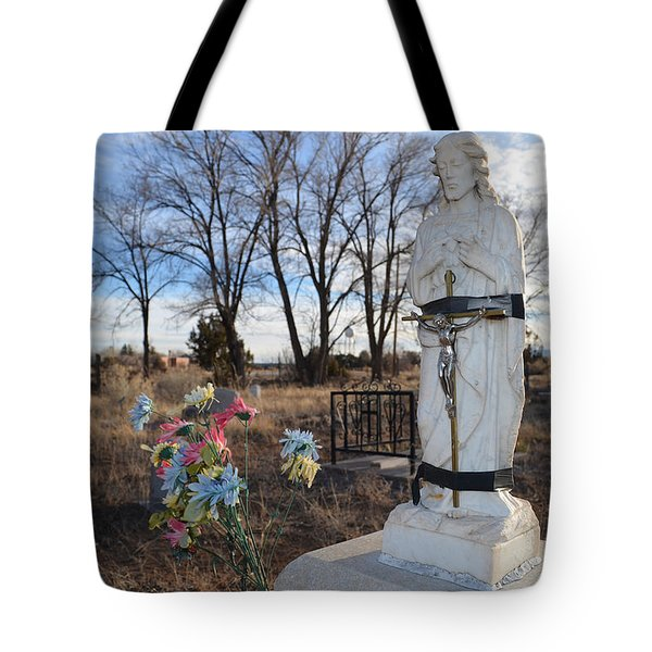 Electrical Tape Jesus Tote Bag