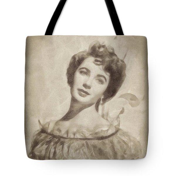 Elizabeth Taylor, Vintage Hollywood Legend By John Springfield Tote Bag by John Springfield