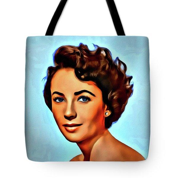 Elizabeth Taylor, Vintage Hollywood Legend Tote Bag by Mary Bassett