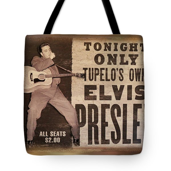 Tote Bag featuring the photograph Elvis by Donna Kennedy