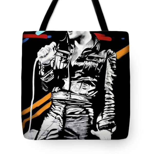 Elvis Tote Bag by Luis Ludzska