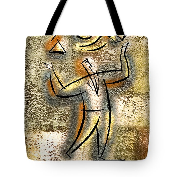 Tote Bag featuring the painting Entrepreneur by Leon Zernitsky