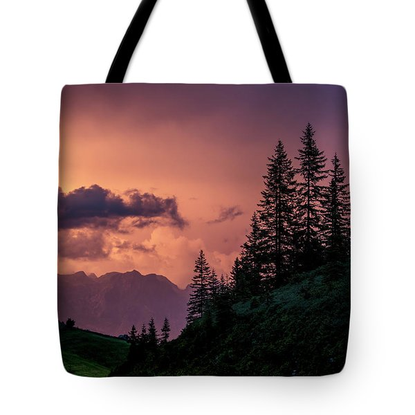 Evening In The Alps Tote Bag