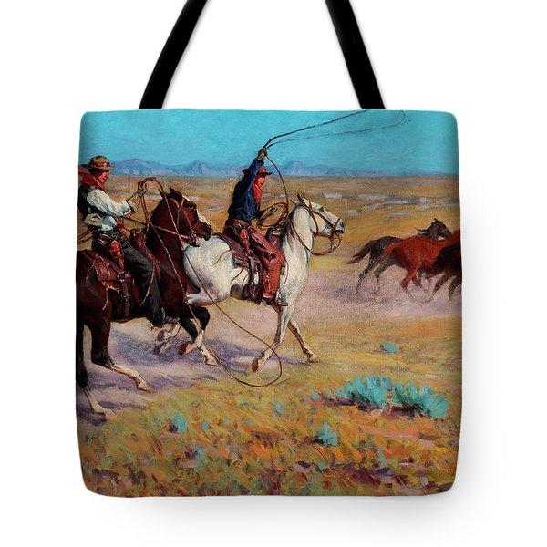 Fading Horses Tote Bag