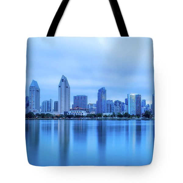 Feeling Blue Tote Bag by Joseph S Giacalone