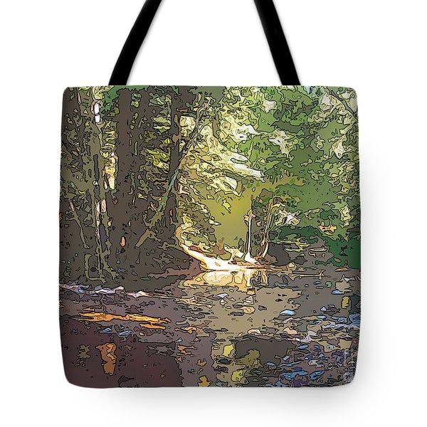 Fernwood  Creek Big Sur Tote Bag
