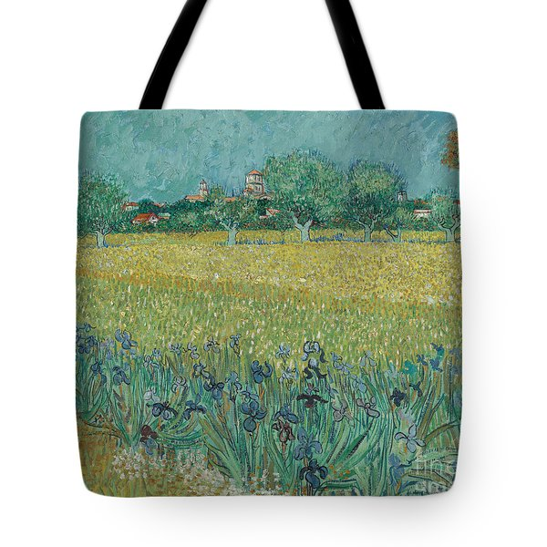 Field With Flowers Near Arles, 1888 Tote Bag