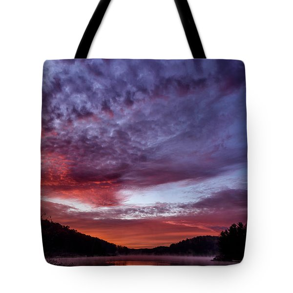First Light On The Lake Tote Bag by Thomas R Fletcher
