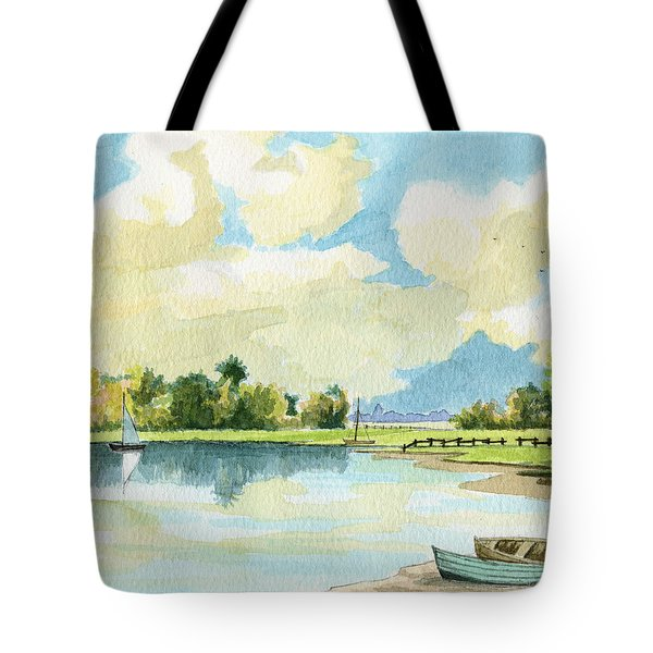Fishing Lake Tote Bag