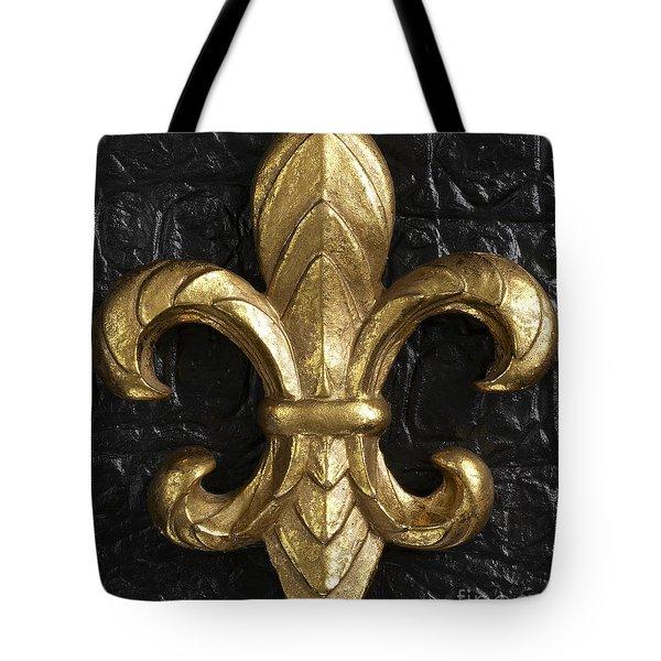 Gold Fleur-di-lis Tote Bag