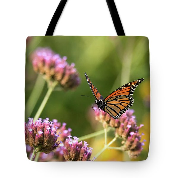 Tote Bag featuring the photograph Flight Of The Monarch 1 by Brian Hale