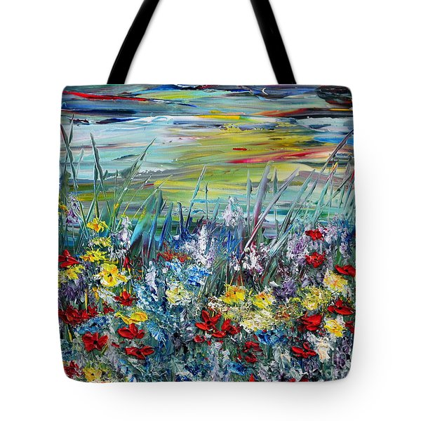 Flower Field Tote Bag by Teresa Wegrzyn