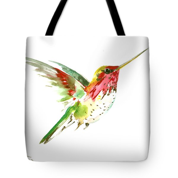 Flying Hummingbird Tote Bag