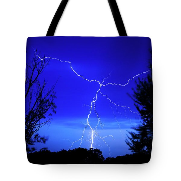Forked Lightning Tote Bag